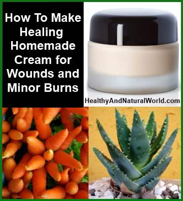 healing cream for wounds and sunburn