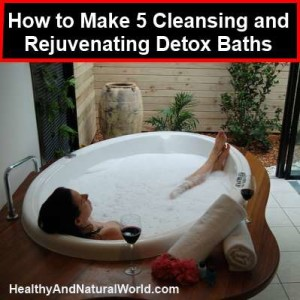 How to make detox bath