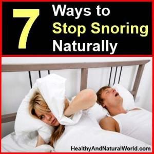 7 Ways to Stop Snoring Naturally