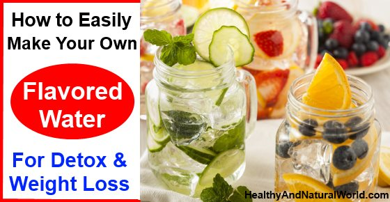 This flavorful drink will help with water retention, burn fat, and remove toxins from your digestive tract. Another great tasting homemade detox water is made from water, strawberries, and kiwi. To make the detox water, measure two liters of spring water. Pour the water into a pitcher. Chop a few strawberries and add them to the water.