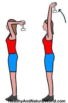 Straighten Your Arms While Elbows Are Next To Ears Now Bend At 90 Degrees Then Squeeze Triceps