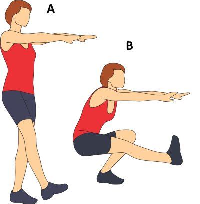one leg squats
