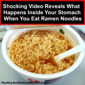 Shocking Video Reveals What Happens Inside Your Stomach When You Eat Ramen Noodles