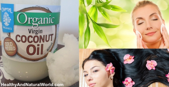 Coconut Oil Secrets for Beautiful Glowing Skin and Shiny Hair