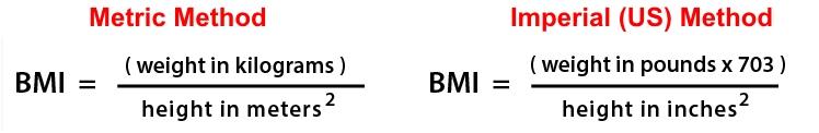 Body Mass Index (BMI) Formula
