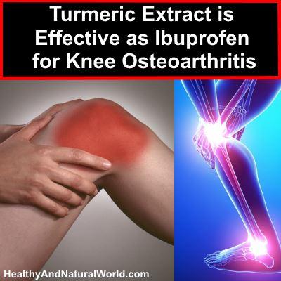 Turmeric Extract is Effective as Ibuprofen for Knee Osteoarthritis