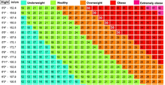 How To Find Your Ideal Weight According To The Bmi Chart