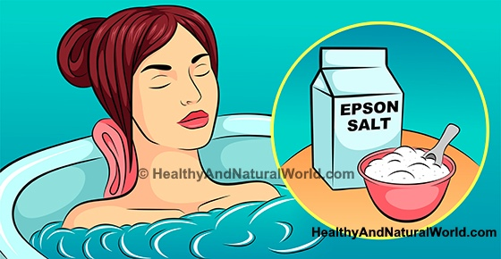 Epsom Salt Bath and Foot Soak - Benefits and Recipes
