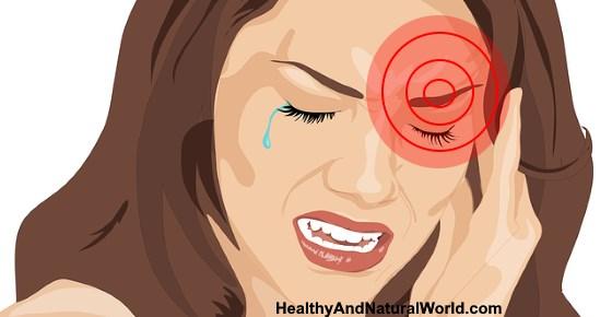 Facial pain near eye
