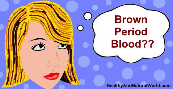 Brown Period Blood - What Does It Mean?