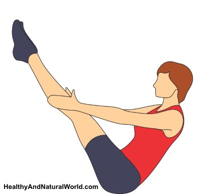 Yoga exercise to stretch psoas muscle