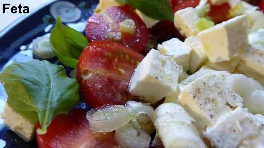 Feta is a type of soft cheese
