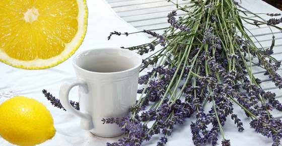 Lavender Lemonade for Headaches and Anxiety