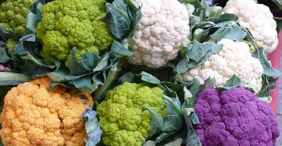 Types of Cauliflower: White, Green, Purple, Yellow, Romanesco
