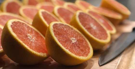Yellow, red, green, white grapefruit