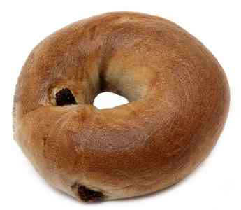 cinnamonand raisin bagel