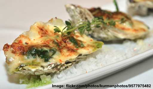 roasted misty oysters